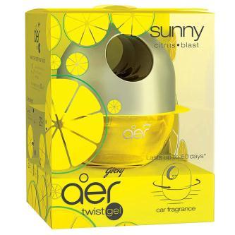 Godrej Aer Sunny Citrus Blast Car Air Freshener Gel (45GM)