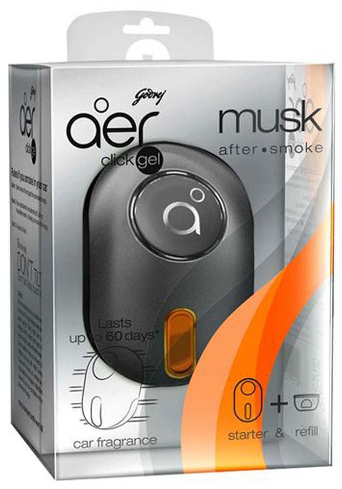 Godrej Aer Click Gel Musk After Smoke (10g)