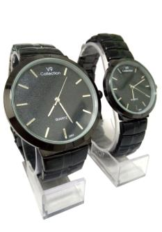 V9 Collection Combo Of Analog Dial Couple Watch For Men & Women