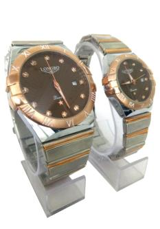 Longbo Combo Of Analog Dial Couple Watch For Men & Women