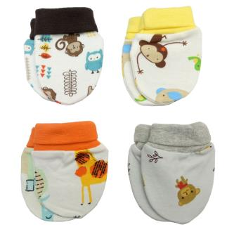 Royal 100 Cotton Mittens Set For Baby Kids(Pack of 4)