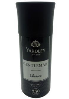 Yardley Gentleman Classic Body Spray For Men (150ML)