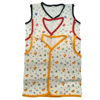 Royal 100 Cotton Sleeveless Vests For Baby Kids(Pack Of 3)