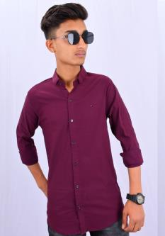 Acid Water Plain Shirts For Men