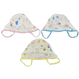 Royal 100 Soft Cotton Reversible Winter Cap For Baby Kids(Pack Of 3)