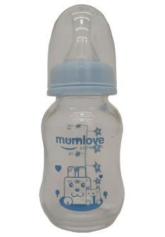 Mumlove Glass Feeding Bottle For Baby Kids(125ML)