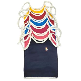 Royal 100 Cotton Singlet Sleeves Vests For Baby Kids(Pack Of 6)