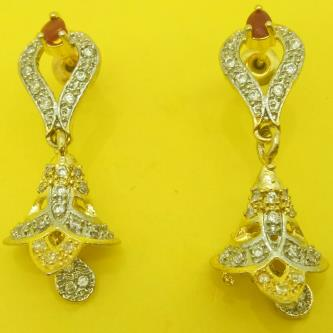 Devi Fancy Drop Gold Plated Earrings For Women