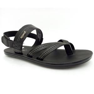 Aerowell Black Sandal For Men