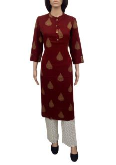 Royal 100 A-line Kurtis For Women With Lower Pants