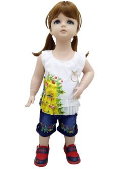 Miss U Jeans & Capri Combo Set For Girl`s