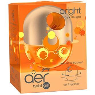 Godrej Aer Bright Tangy Delight Car Freshener Gel (45GM)
