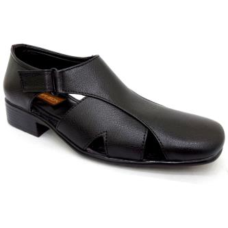 Grison Black Sandal For Men