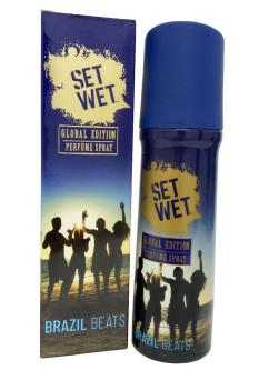 Set Wet Brazil Beats Deodorant For Men & Women (120ML)