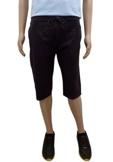 Black Wine 3/4th Capris For Men