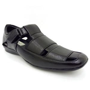 Blue Boys Black Sandals For Men