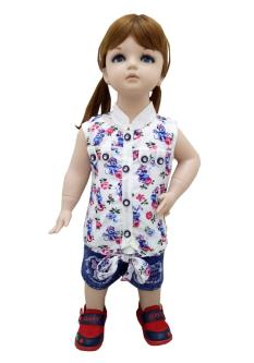 First Baby Top&Capris Combo Set For Girl`s