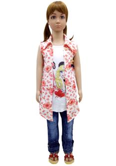 SN Jeans & Tops Combo Set For Girls
