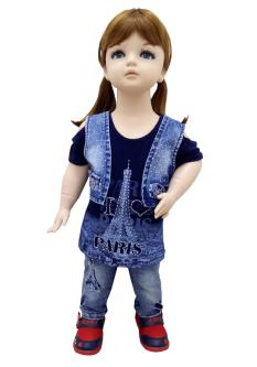 First Baby Jeans & Top Combo Set For Girl`s