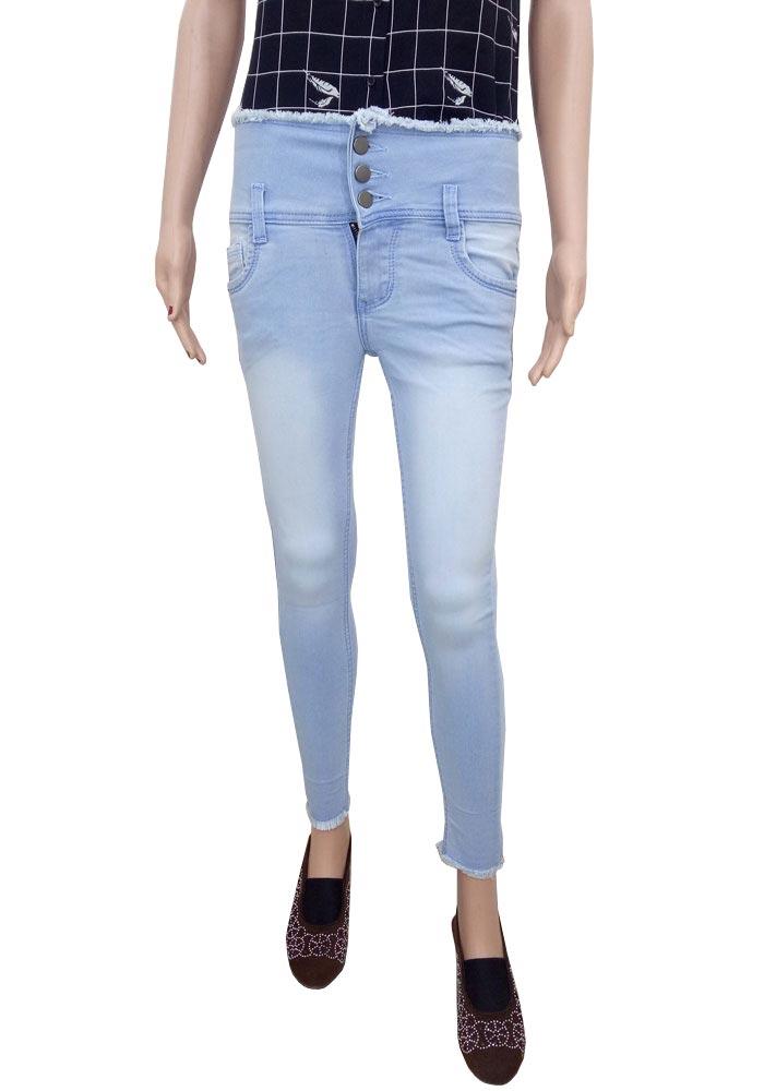 Noorie High Waist Cigarette Jeans For Women