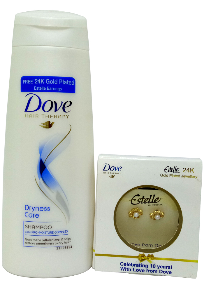 b60e643ddc179 Dove Dryness Care Shampoo (180ml) (Free 24K Gold Plated Earrings)