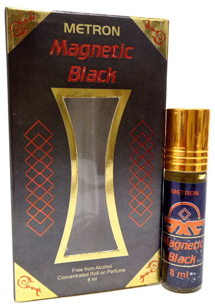 Metron Magnetic Black Attar For Men (8ML)