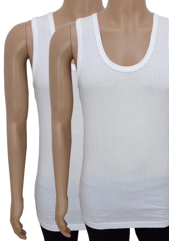Jockey White Cotton Vests (Pack of 2)